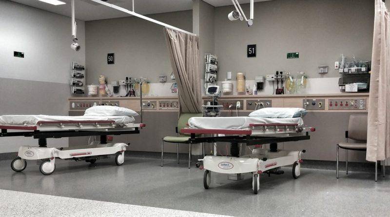 łóżko, szpital, łóżko szpitalne,